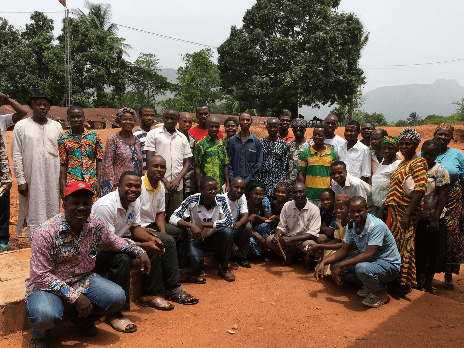 project support for a group of beekeeper beneficiaries