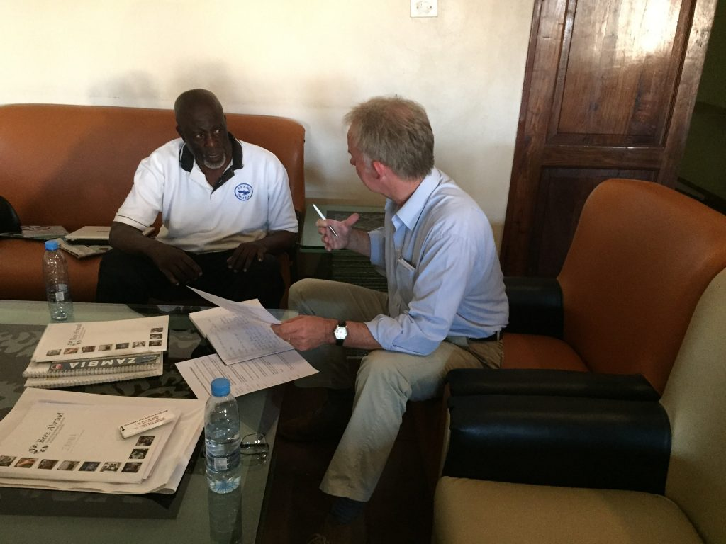 Meeting with SRDA director, Phillip Nsakilwa